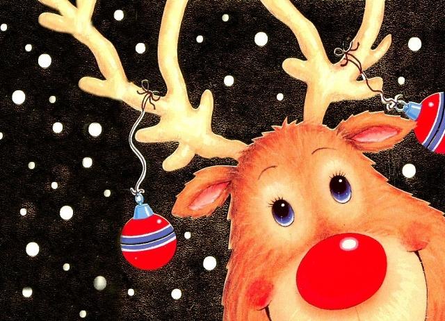 рождественский олень Рудольф