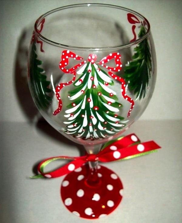 Украшения бокалов своими руками к новому году