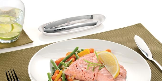 TESCOMA Щипцы для костей рыбы PRESTO с миской для откладывания 420530
