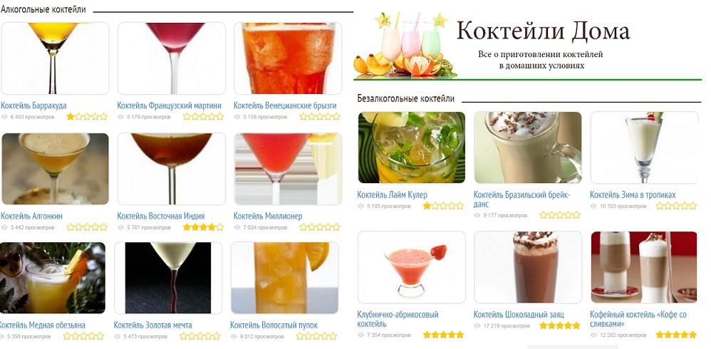 Простейшие алкогольные коктейли в домашних условиях 156