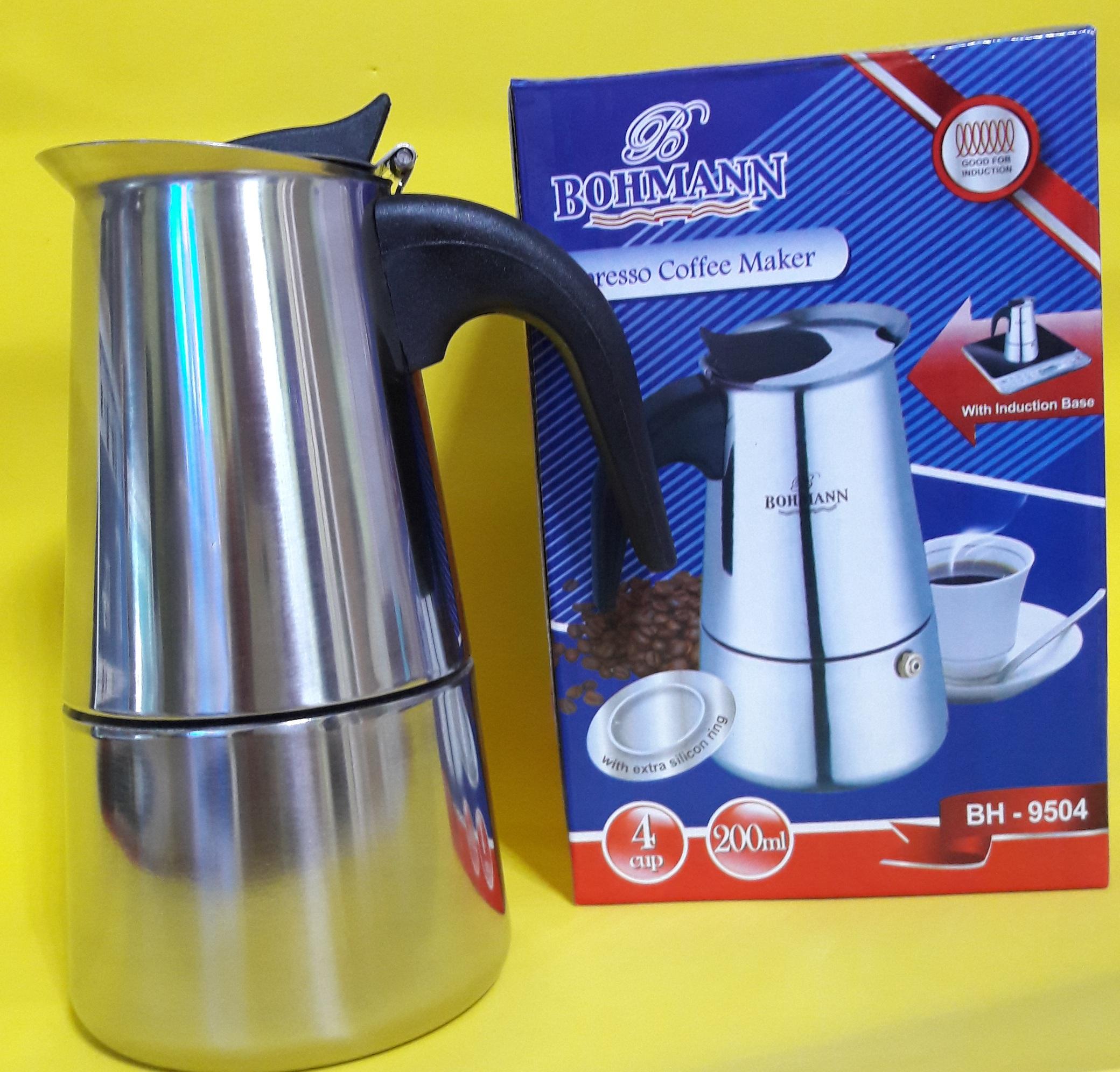BOHMANN Кофеварка гейзерная на 4 чашки BH 9504