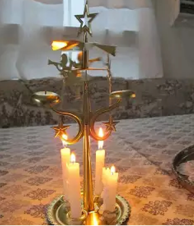 Подсвечник Звенящий ангел Вифлеемская звезда
