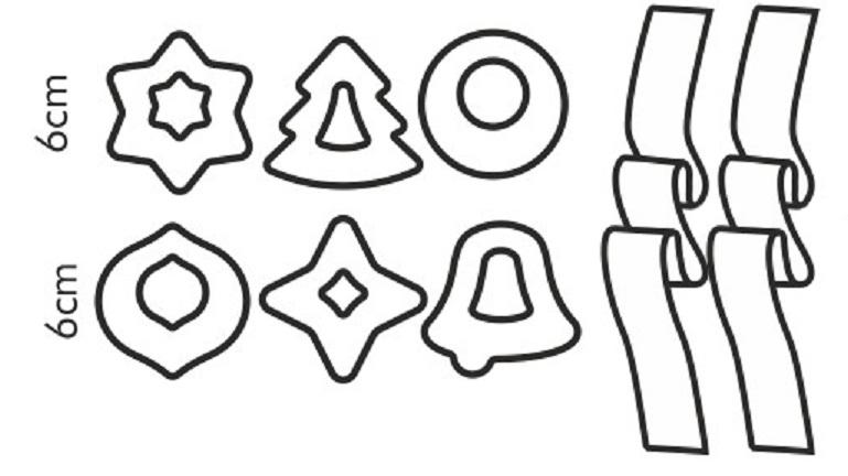Формочки Рождественские украшения DELICIA, 6 шт. 630916