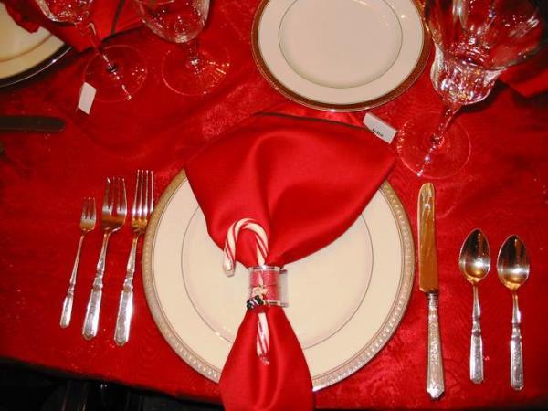 сервировка новогоднего стола 2016