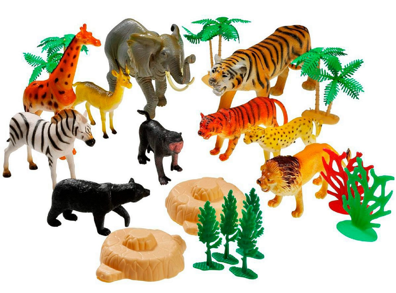 Животные дикой природы набор игрушек 45085