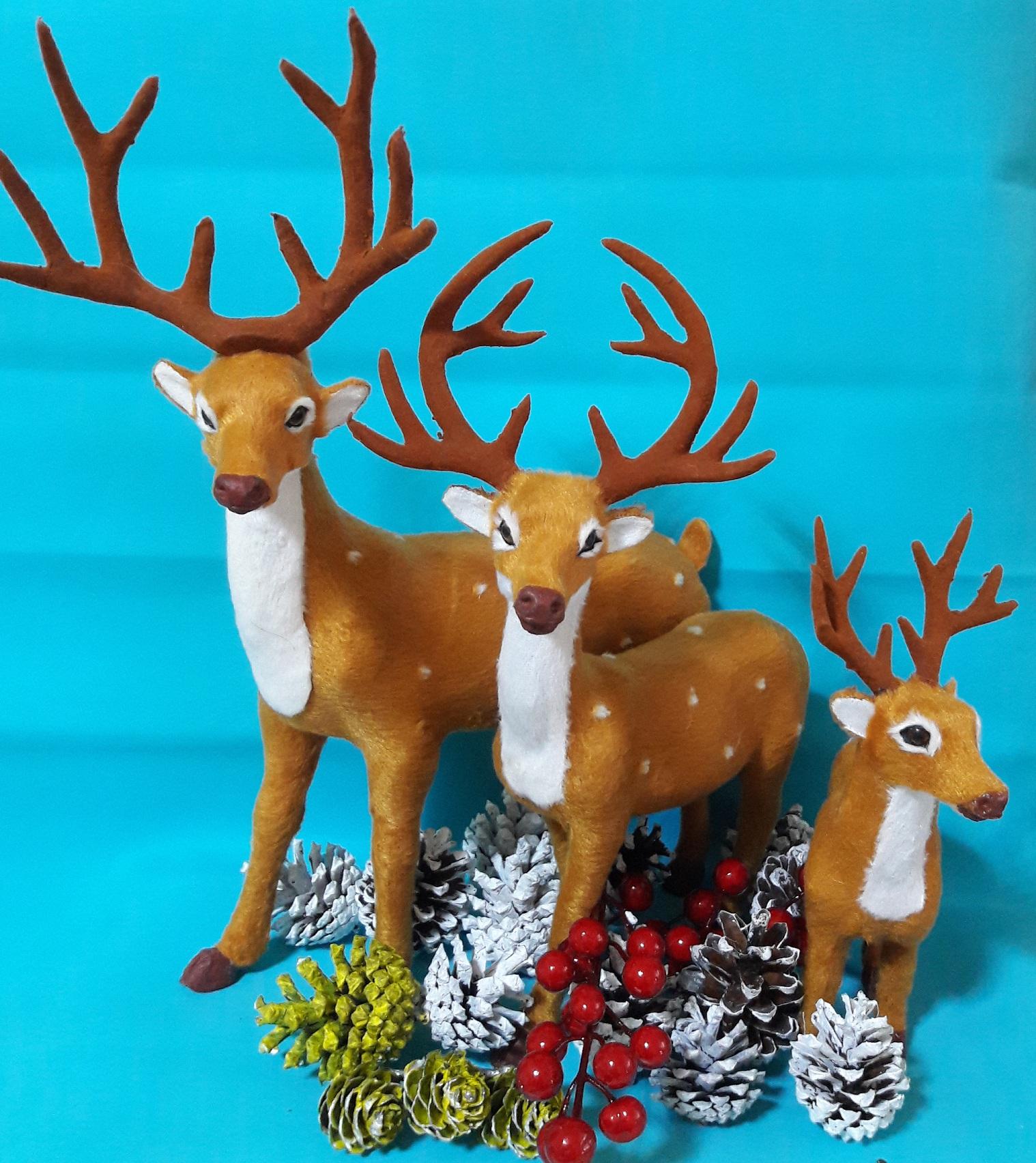Рождественский олень О15 36х30 см