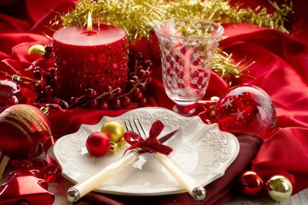 сервировка новогоднего стола 2016 фото