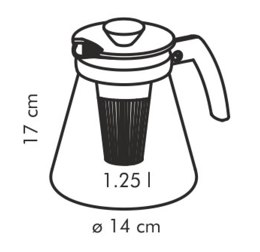 Стеклянный чайник TEO TONE 1,25 л, с ситечками для заваривания  646623
