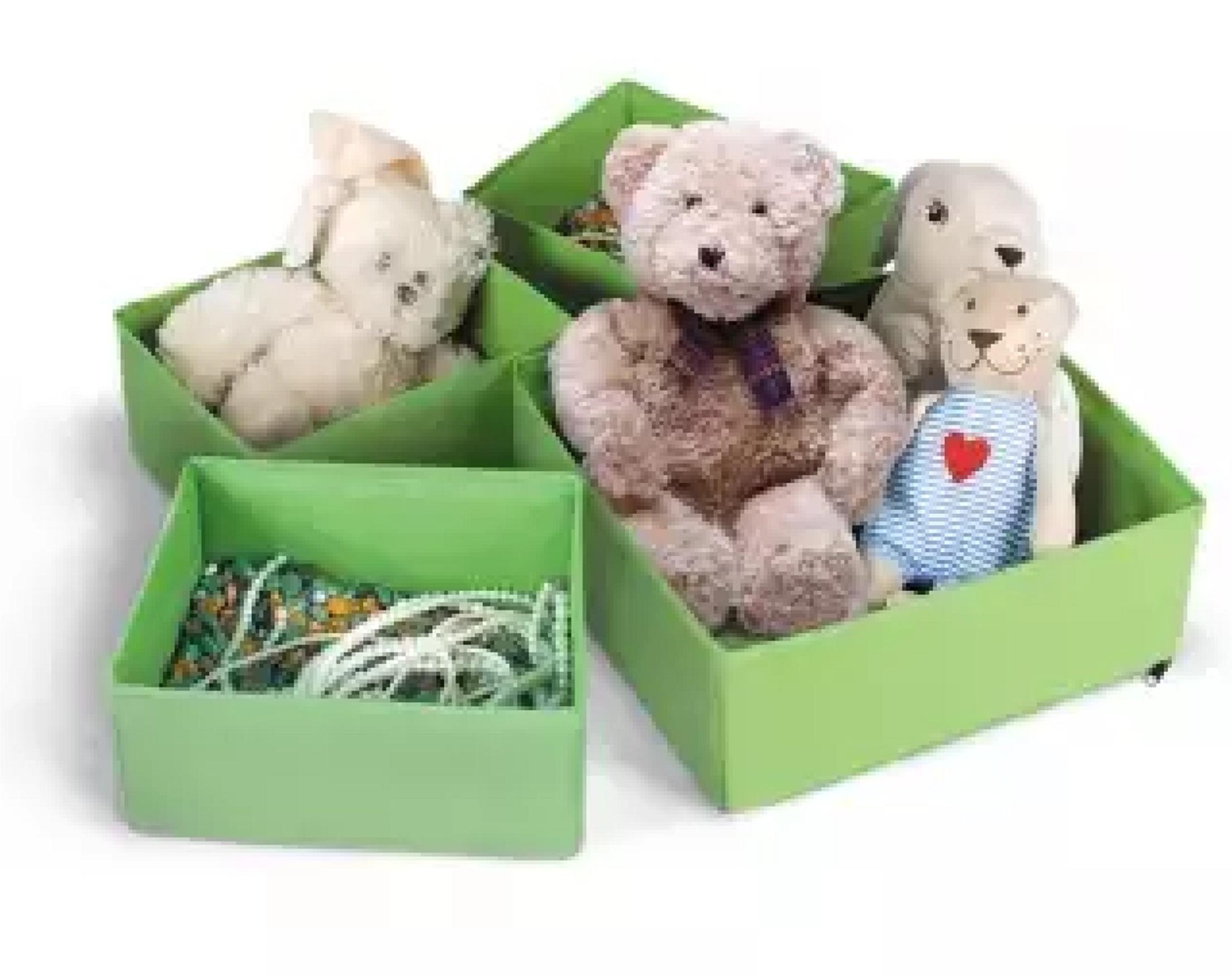 Набор раскладных коробок для хранения вещей 4 шт