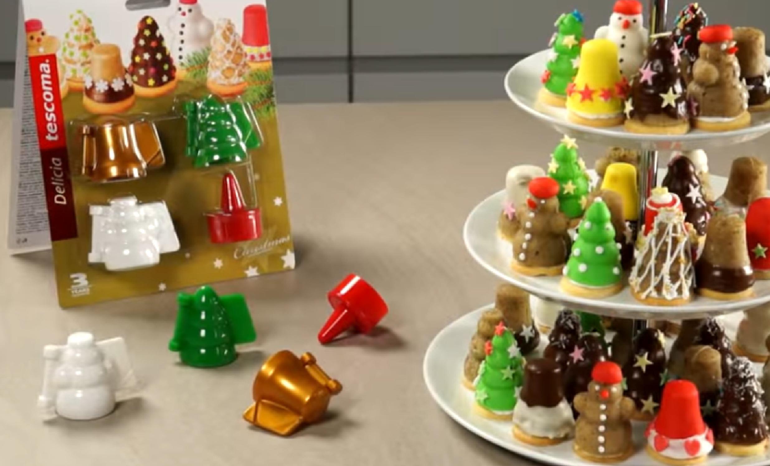 Формочки для печенья с начинкой DELICIA 3 рождественских формы 631646