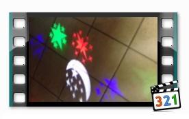 Лазерный проектор новогодний 12810