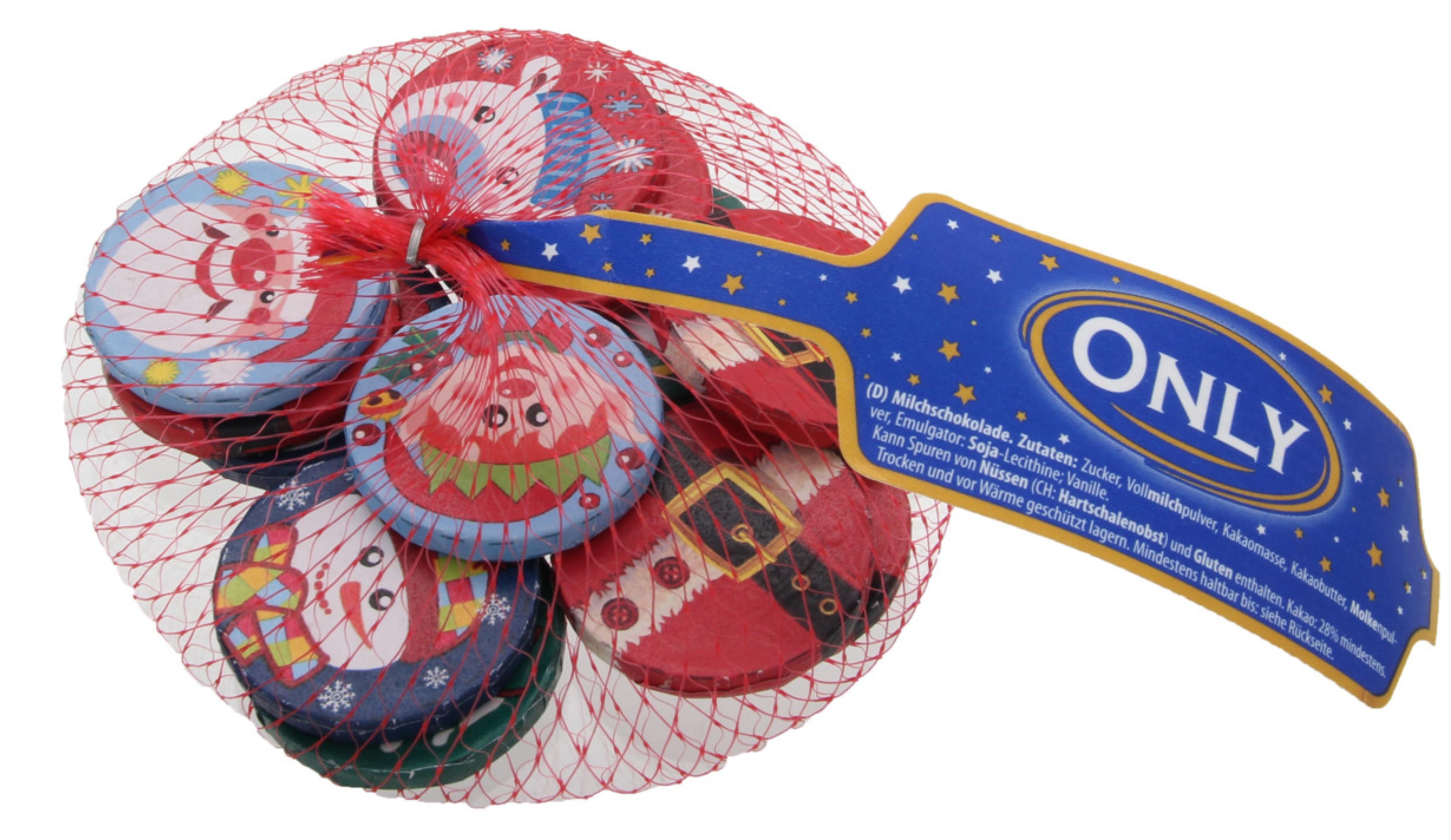 Молочный шоколад Рождественские монетки 85 гр