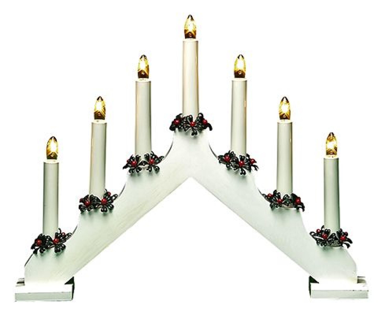 Рождественская горка 7 свечей WHITE