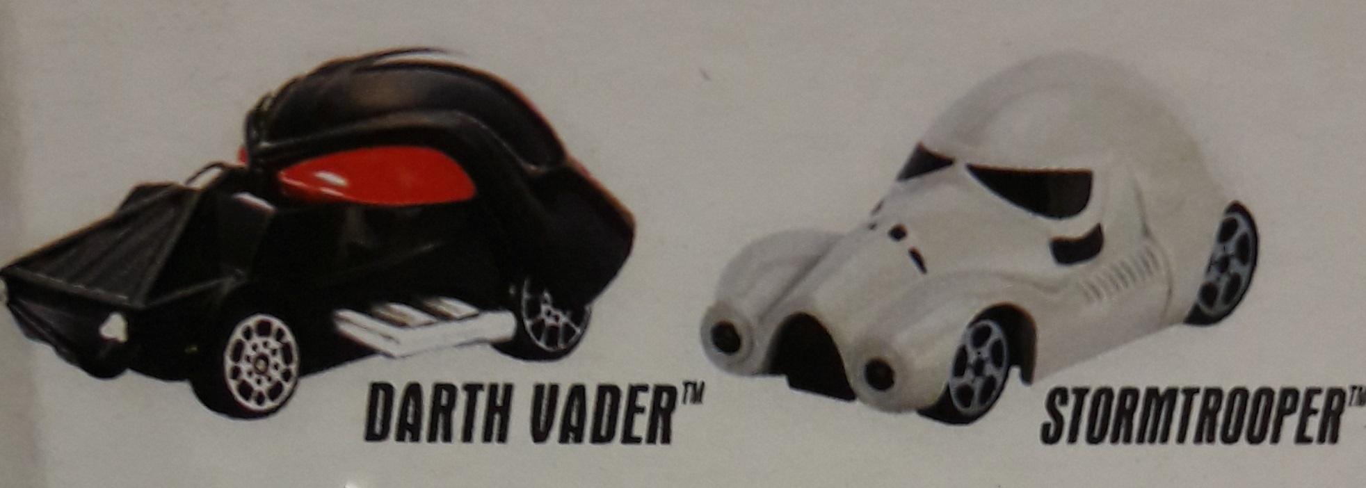 Hot Wheels машинки star wars 2 шт DARTH VADER+ STORMROOPER