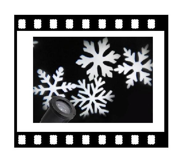 Лазерный проектор рождественский Снежинки