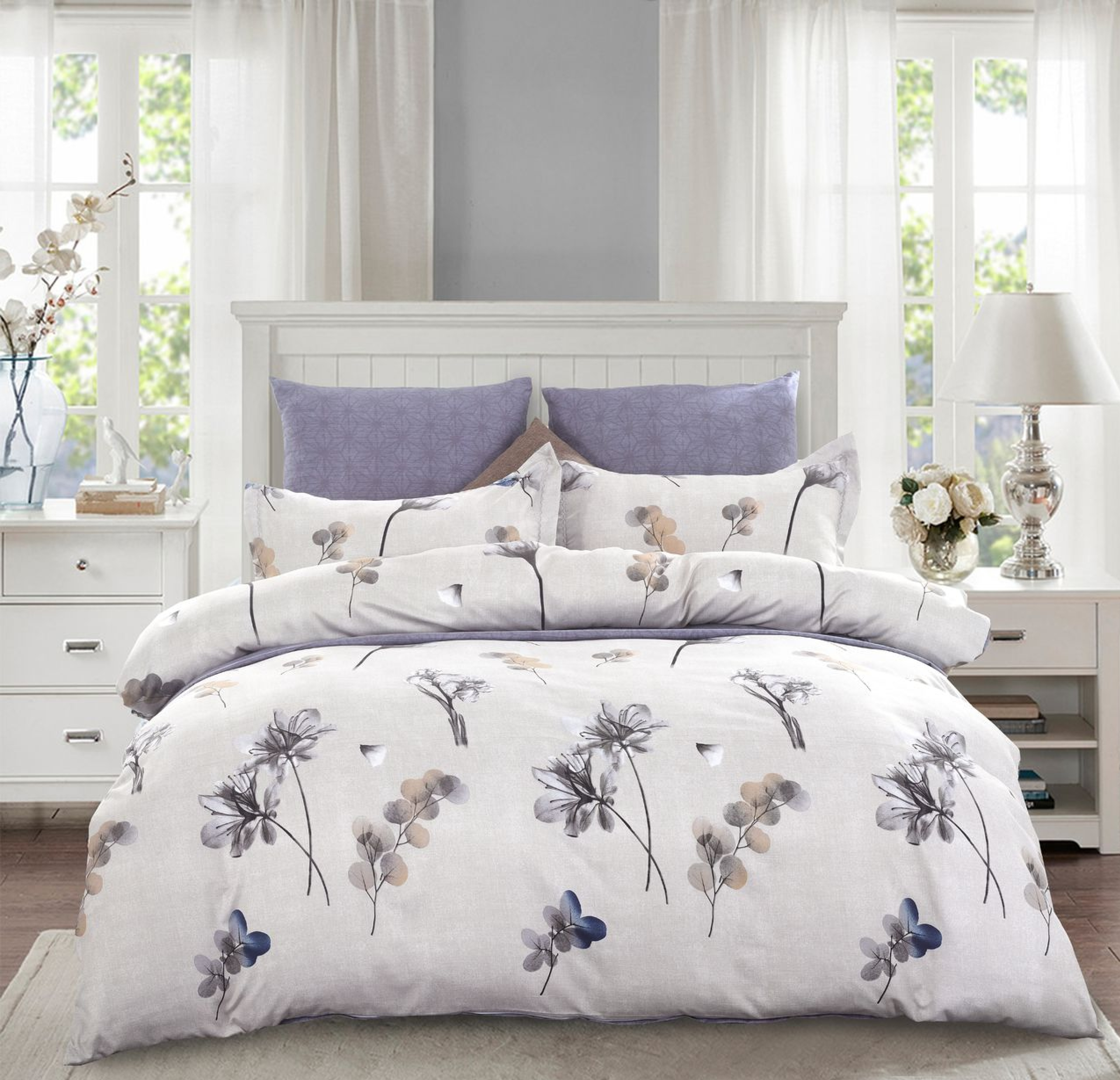 Комплект постельного белья Сатин Вышивка CN022