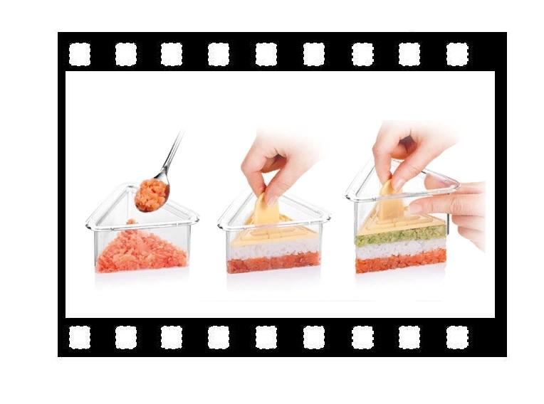 Формочки для придания блюдам формы ТРЕУГОЛЬНИКИ 3 шт PRESTO 422216