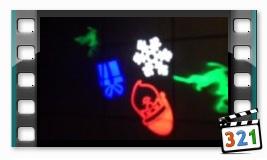 Лазерный проектор рождественский Звездный дождь