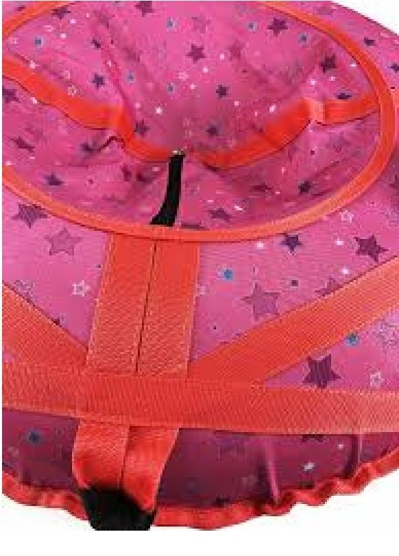 Тюбинг Звёзды на розовом 90 см
