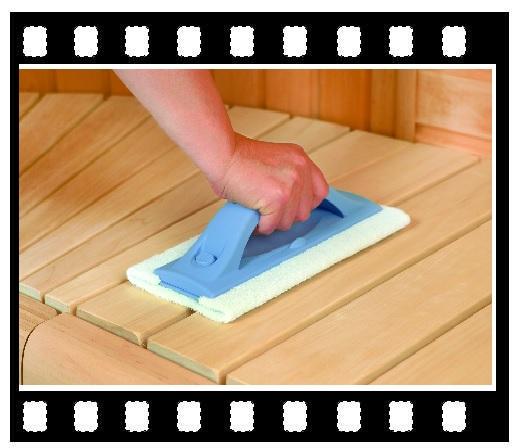 сменная губка для чистки скамейки сауны